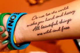 95 lovely wording tattoos on wrist