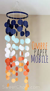 paper craft home decor redecora la casa con ideas de papel paper mobile ombre and diy