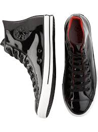 black patent leather chucks if i ever wear a tux these are going