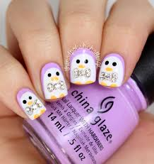 kelli marissa cute penguin nail art with 3d bows