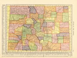 Detailed Map Of Colorado by Antique Maps Of Colorado