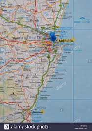 Map East Coast Road Map Of The East Coast Of Scotland Showing Aberdeen And The