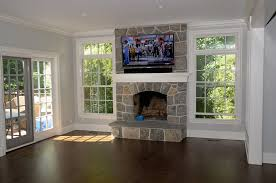 Fireplace With Music by Tv With Custom Mantle Whole House Music System And Outdoor Music