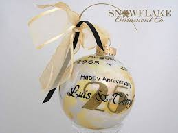 50th anniversary ornaments happy 10th 25th 50th anniversary personalized glass stylish custom