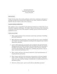Territory Manager Job Description Resume Job Description Plant And Facilities Manager 1 728 Jpg Cb U003d1335380324