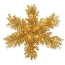 national tree company 32 in chagne tinsel artificial snowflake