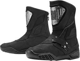 motorcycle footwear mens mens icon black leather armor retrograde motorcycle riding street
