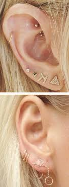 30 ear piercing ideas that are trending now cartilage ring ear