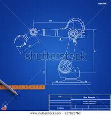 robot blueprint stock images royalty free images u0026 vectors