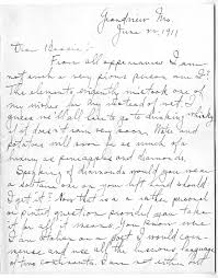 letter from harry s truman to bess wallace june 22 1911 truman
