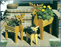 deer planter trio kit u2013 pre cut woodworking project blue
