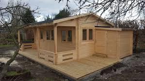 wood cabin henning log cabin 5 95 x 5 40 with a front veranda