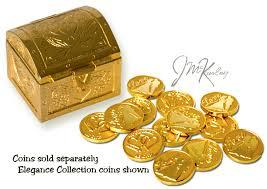 arras de oro cofre chapado en oro para arras con diseno de corazon