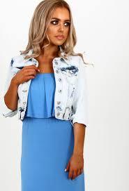 light blue cropped jean jacket summer haze light blue acid wash cropped denim jacket pink boutique