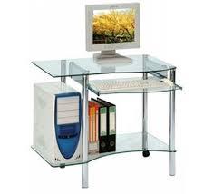 petit bureau informatique pas cher bureau informatique moderne verre 4016
