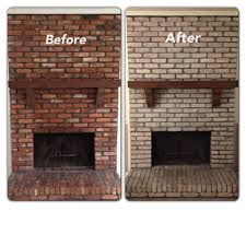 How To Clean Fireplace Bricks With Vinegar by White Wash Brick Fireplace Sherwin Williams