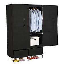 Cloth Closet Doors Woltu Portable Clothes Closet Wardrobe Storage With 2 Drawer Cloth