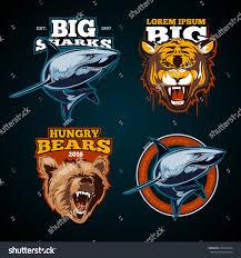 vintage animal color labels badges emblem stock vector 443822224