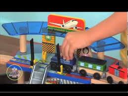 kidkraft train table compatible with thomas kidkraft super highway table train set youtube