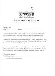 media release form release form services anu printable sample