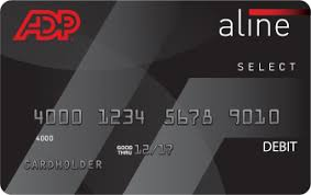 the aline card by adp