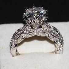 silver wedding ring sets wieck luxury diamonique 925 sterling silver wedding topaz