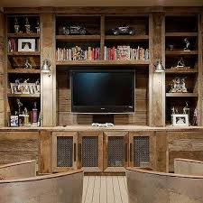 barn wood media built ins design ideas