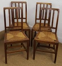 Oak Dining Chairs Heals Set Of 4 Oak Dining Chairs C1930 Antiques Atlas