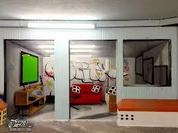 living room graffiti illusion mural odeith bubble letters alcantra
