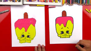 how to draw popsicle shopkins art for kids hub