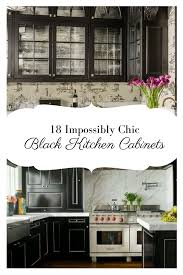 18 impossibly chic black kitchen cabinets dream house ideas
