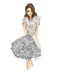 anumt fashion illustration inspired by oscar de la renta dress