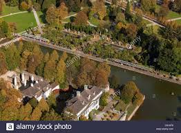 Aerial View Of Bad Pyrmont Castle And Gardens Moat And Palm
