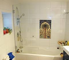 bathroom tile floral animal tiles