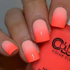 35 bright summer nail designs orange ombre ombre and neon