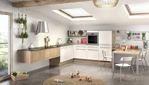 cuisine bois et blanc deco cuisine bois et blanc idées de décoration capreol us