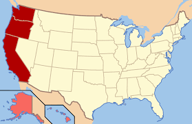 Border Map Of Usa by West Coast Of The United States Wikipedia