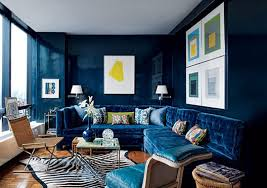 paint color portfolio navy blue living rooms apartment therapy