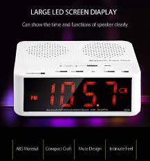 mx 017 portable desktop alarm clock bluetooth v2 1 stereo
