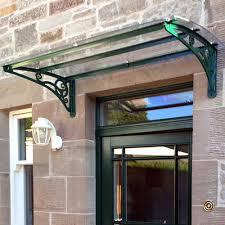 glass door canopies bespoke door canopy made to measure