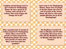thanksgiving day word problem task cards pack by holden s hive tpt