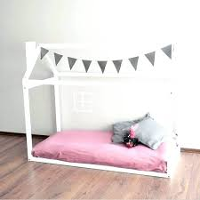 Montessori Floor Bed Frame Montessori Bed Frame Handmade Bed Wood House Bed Bed House