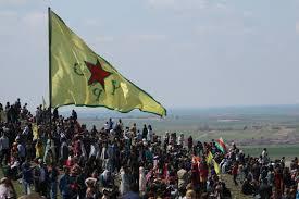Kurdish Flag Us Backed Syrian Militants Just Raised Their Flag In The Raqqa
