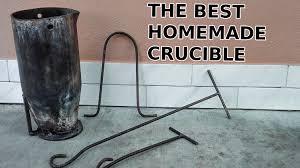 homemade heavy duty crucible for aluminum casting youtube