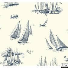 sherry u0027s sailboat toile wallpaper out 64166 designer