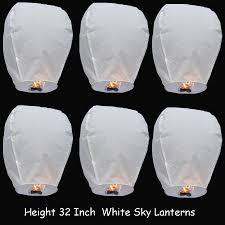 How To Make Paper Air Balloon Lantern - weding pcs lot white air balloon flying wish paper