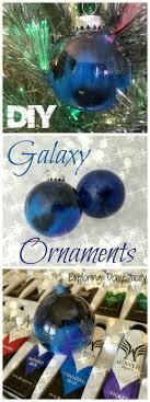 diy galaxy ornaments poured paint ornaments