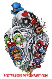 evil clown tattoo flash google search fallen angel pinterest