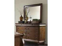 Rustic Bedroom Dressers - liberty furniture bedroom king sleigh bed dresser and mirror