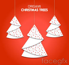 origami tree ornaments vector millions vectors